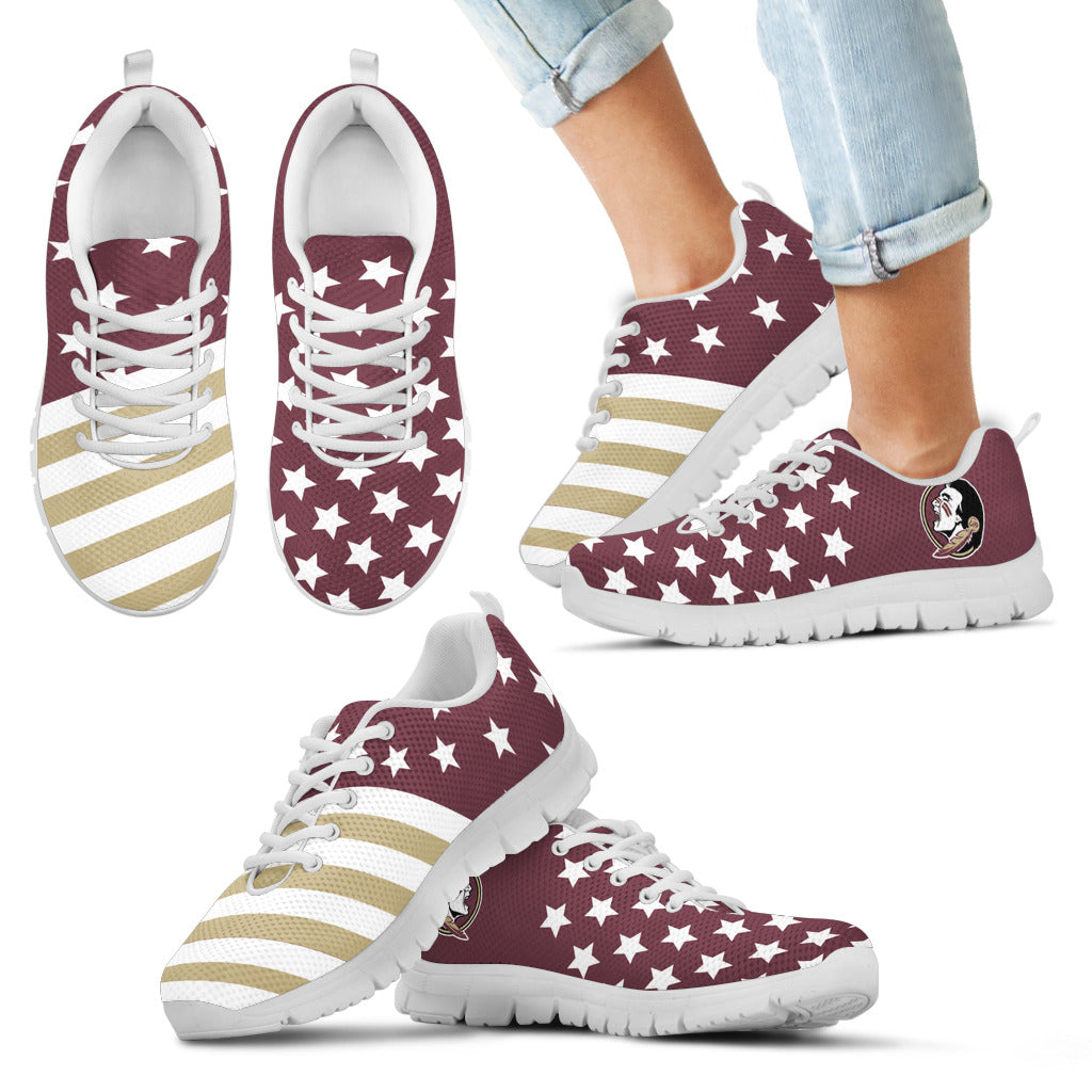 American Flag Full Stars Florida State Seminoles Sneakers
