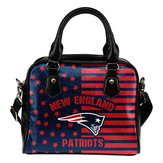 Twinkle Star With Line New England Patriots Shoulder Handbags