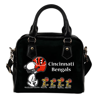 Lovely Animal Team Cincinnati Bengals Shoulder Handbag
