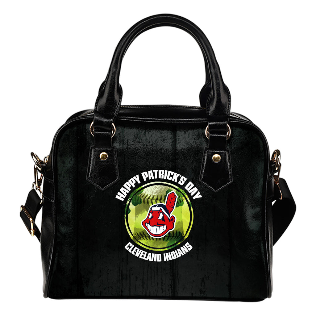 Retro Scene Lovely Shining Patrick's Day Cleveland Indians Shoulder Handbags