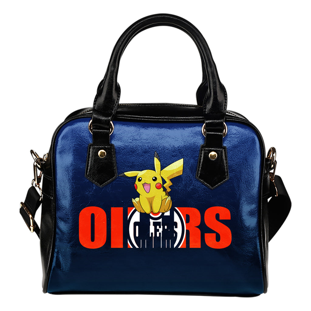 Pokemon Sit On Text Edmonton Oilers Shoulder Handbags