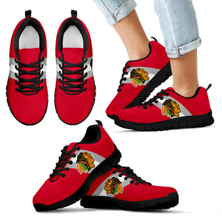 Three Colors Vertical Chicago Blackhawks Sneakers