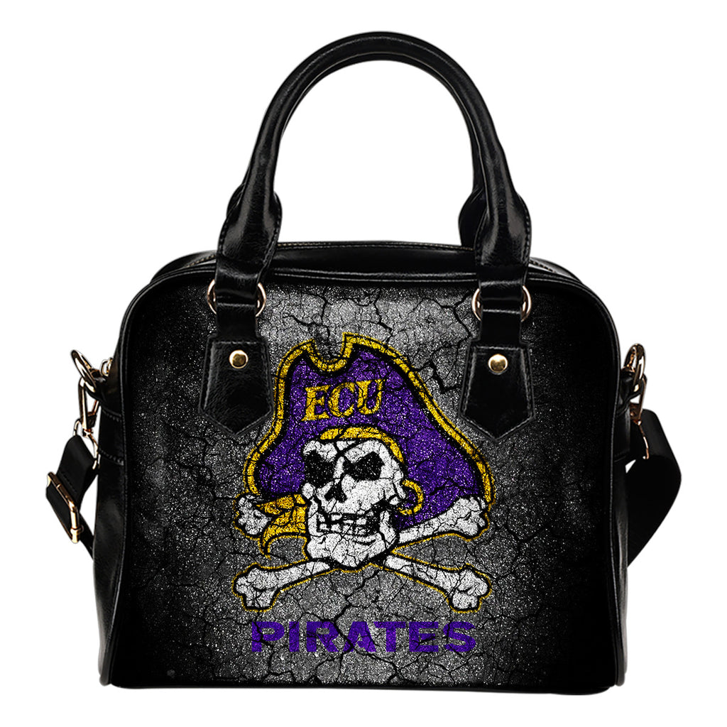 Wall Break East Carolina Pirates Shoulder Handbags Women Purse
