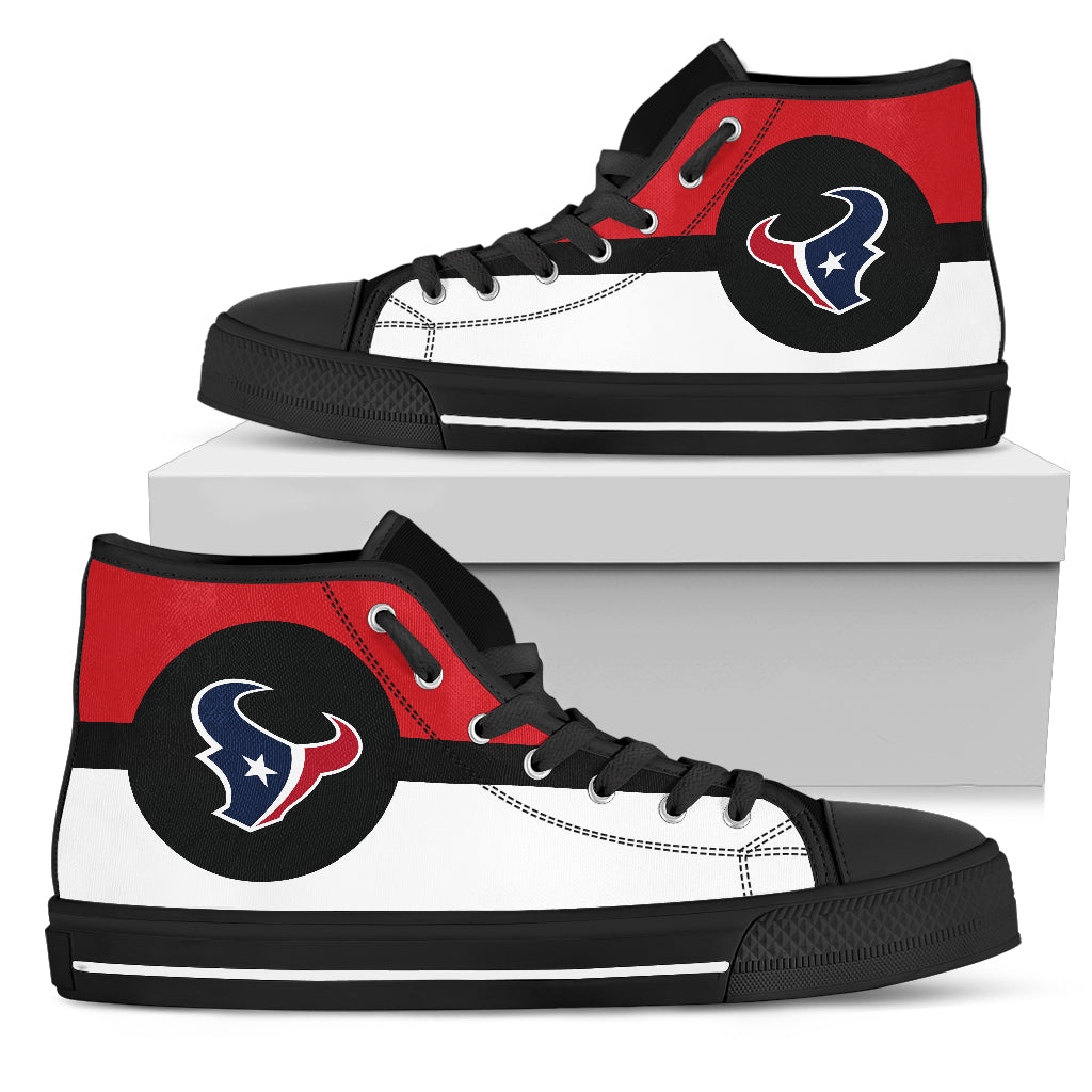 Bright Colours Open Sections Great Logo Houston Texans High Top  hot sale
