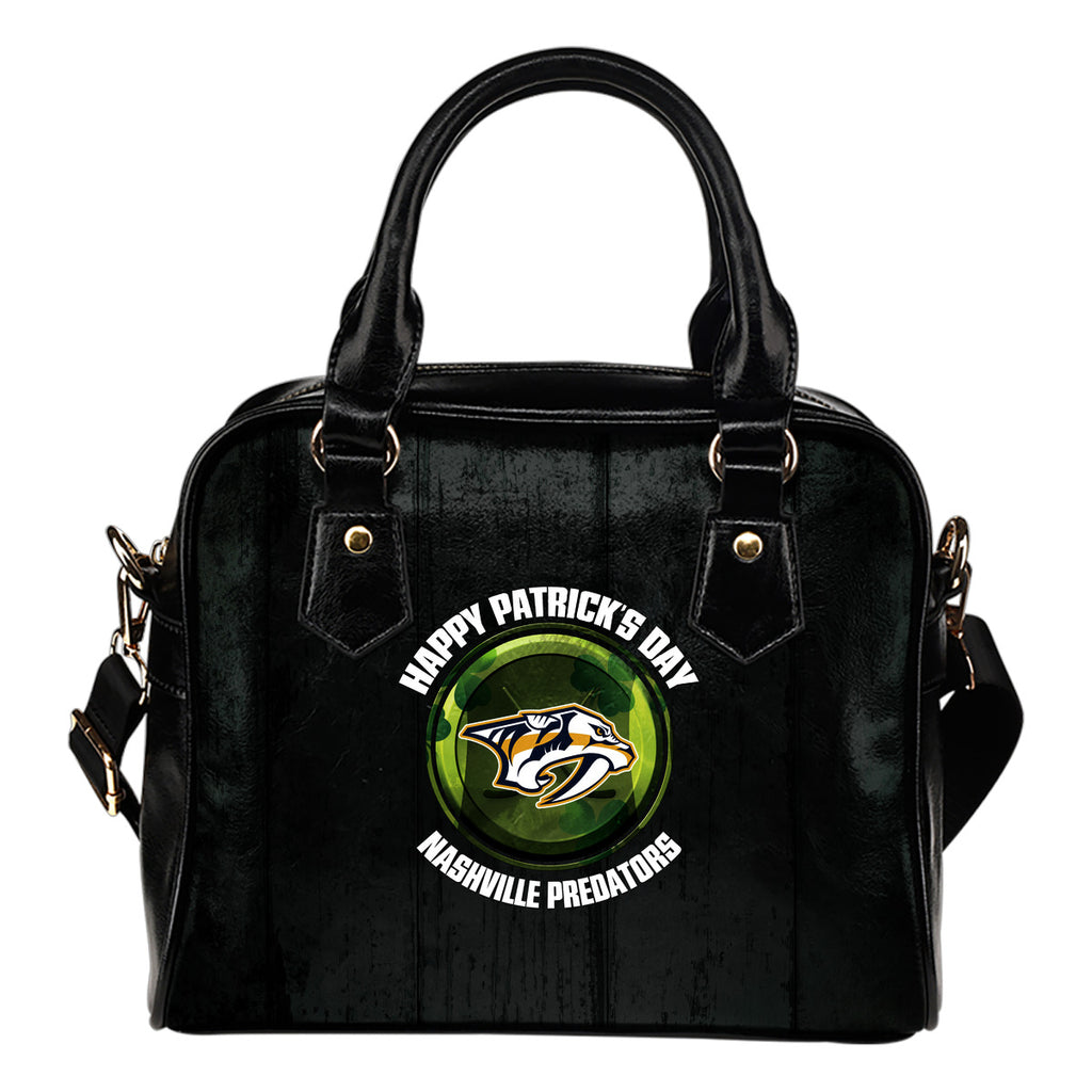 Retro Scene Lovely Shining Patrick's Day Nashville Predators Shoulder Handbags