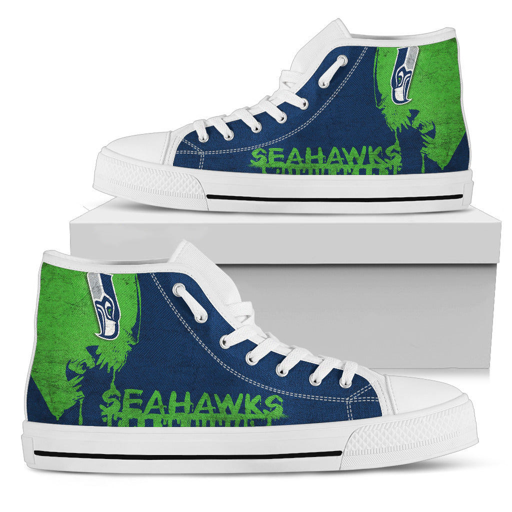 Alien Movie Seattle Seahawks High Top Shoes