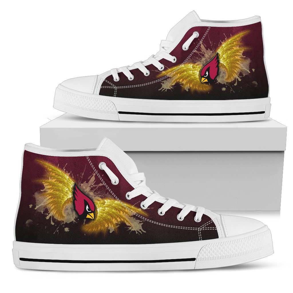 Angel Wings Arizona Cardinals High Top Shoes