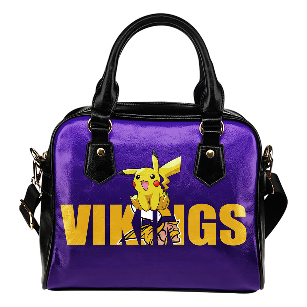 Pokemon Sit On Text Minnesota Vikings Shoulder Handbags