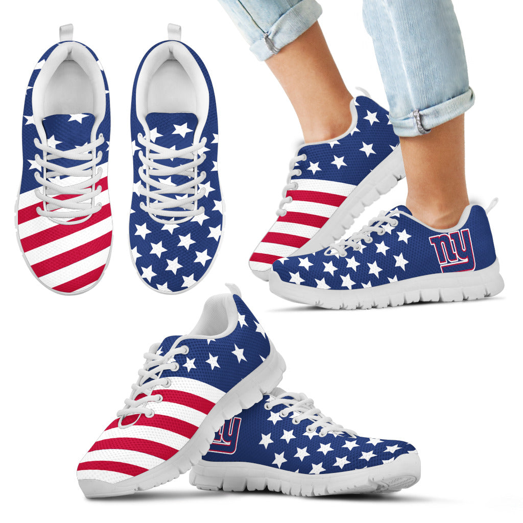 America Flag Full Stars Stripes New York Giants Sneakers