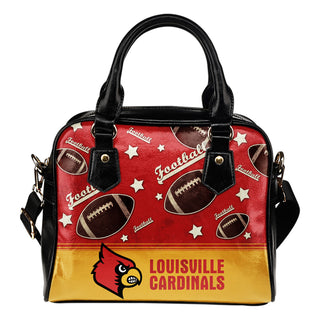 Personalized American Football Awesome Louisville Cardinals Shoulder Handbag
