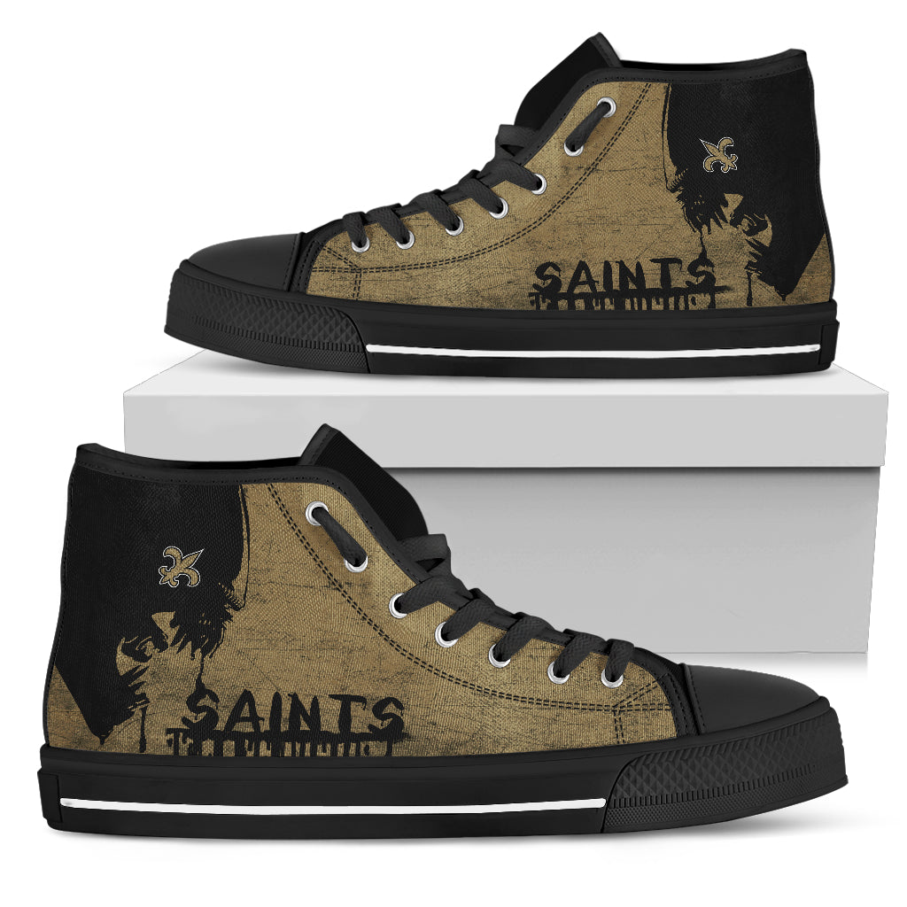 Alien Movie New Orleans Saints High Top Shoes