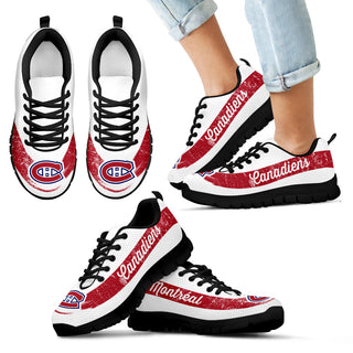 Single Line Logo Montreal Canadiens Sneakers