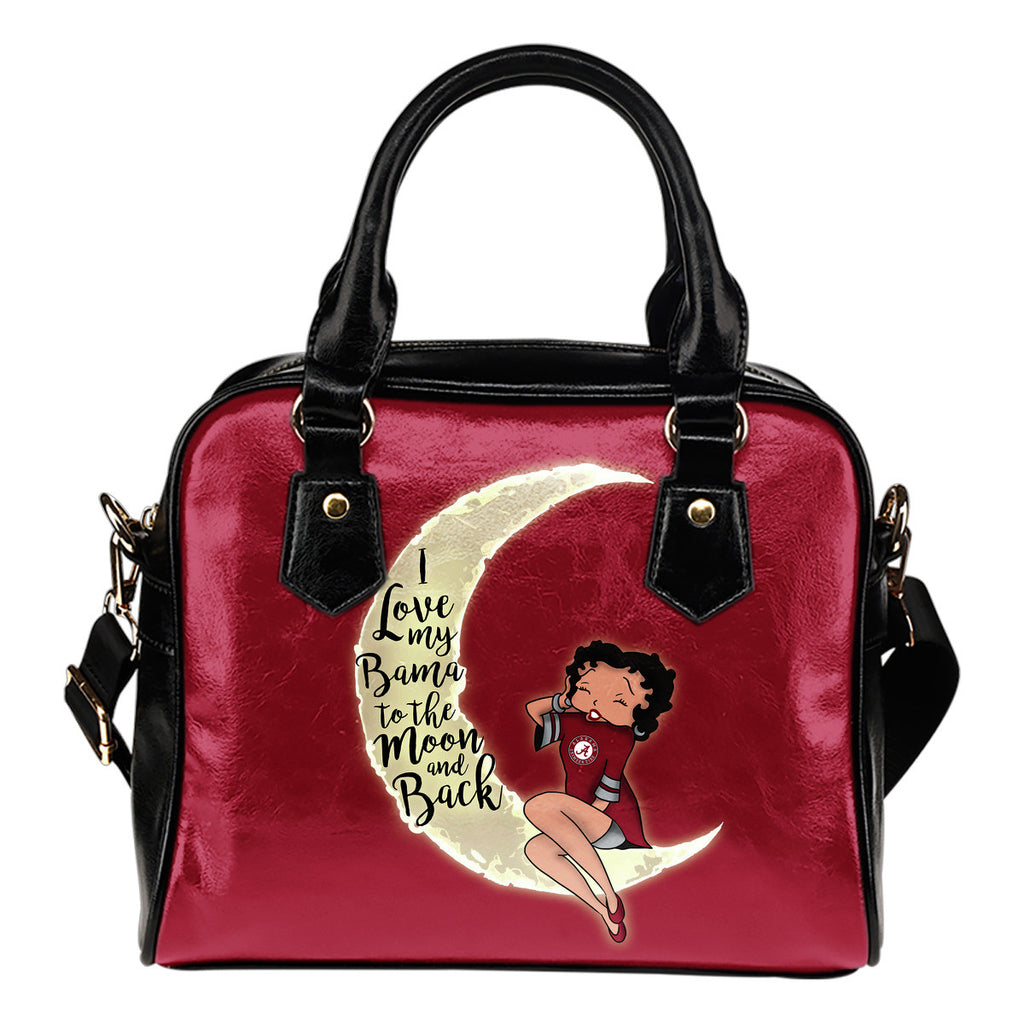 I Love My Alabama Crimson Tide To The Moon And Back Shoulder Handbags - Best Funny Store