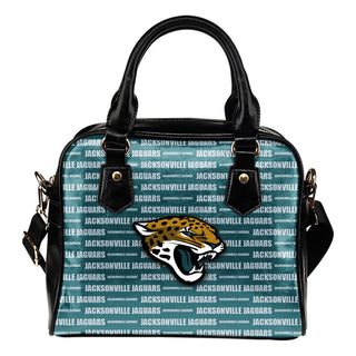 Nice Little Logo Jacksonville Jaguars Shoulder Handbags
