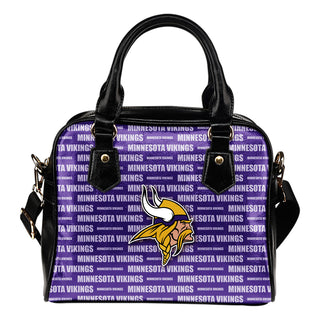 Nice Little Logo Minnesota Vikings Shoulder Handbags