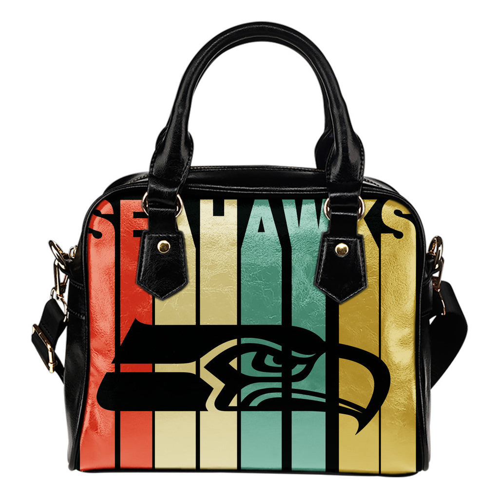Seattle Seahawks Vintage Silhouette Shoulder Handbags - Best Funny Store