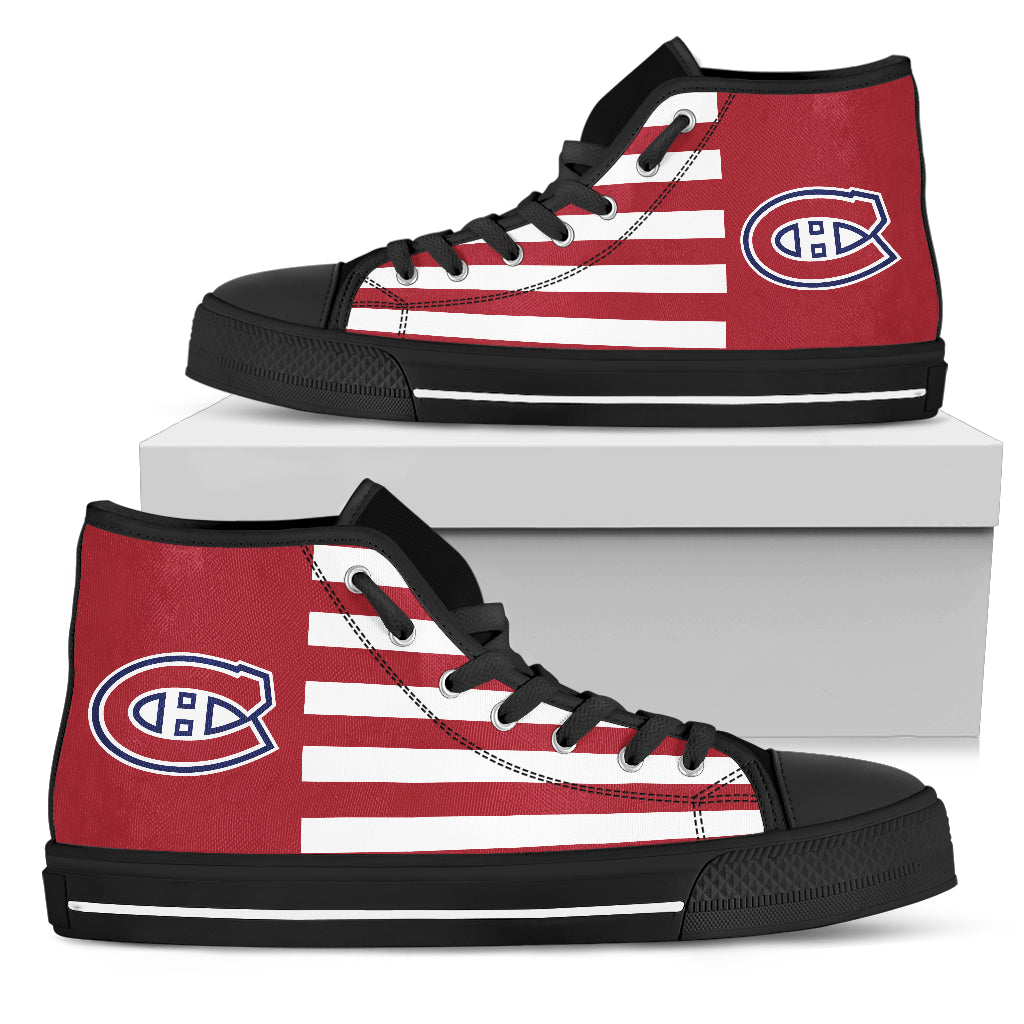 American Flag Montreal Canadiens High Top Shoes