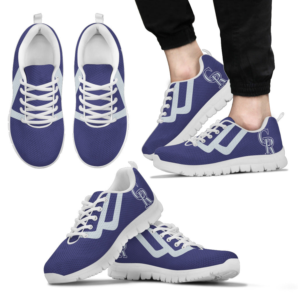 Line Bottom Straight Colorado Rockies Sneakers