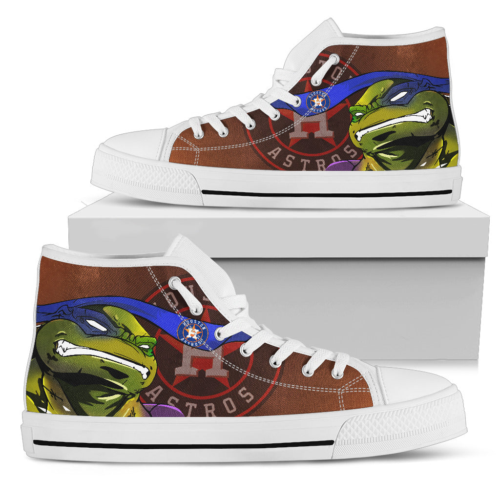 Turtle Houston Astros Ninja High Top Shoes