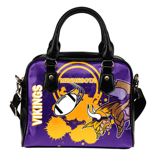 The Victory Minnesota Vikings Shoulder Handbags