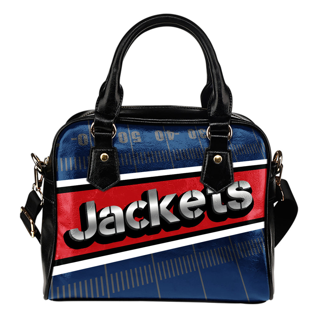 Columbus Blue Jackets Silver Name Colorful Shoulder Handbags