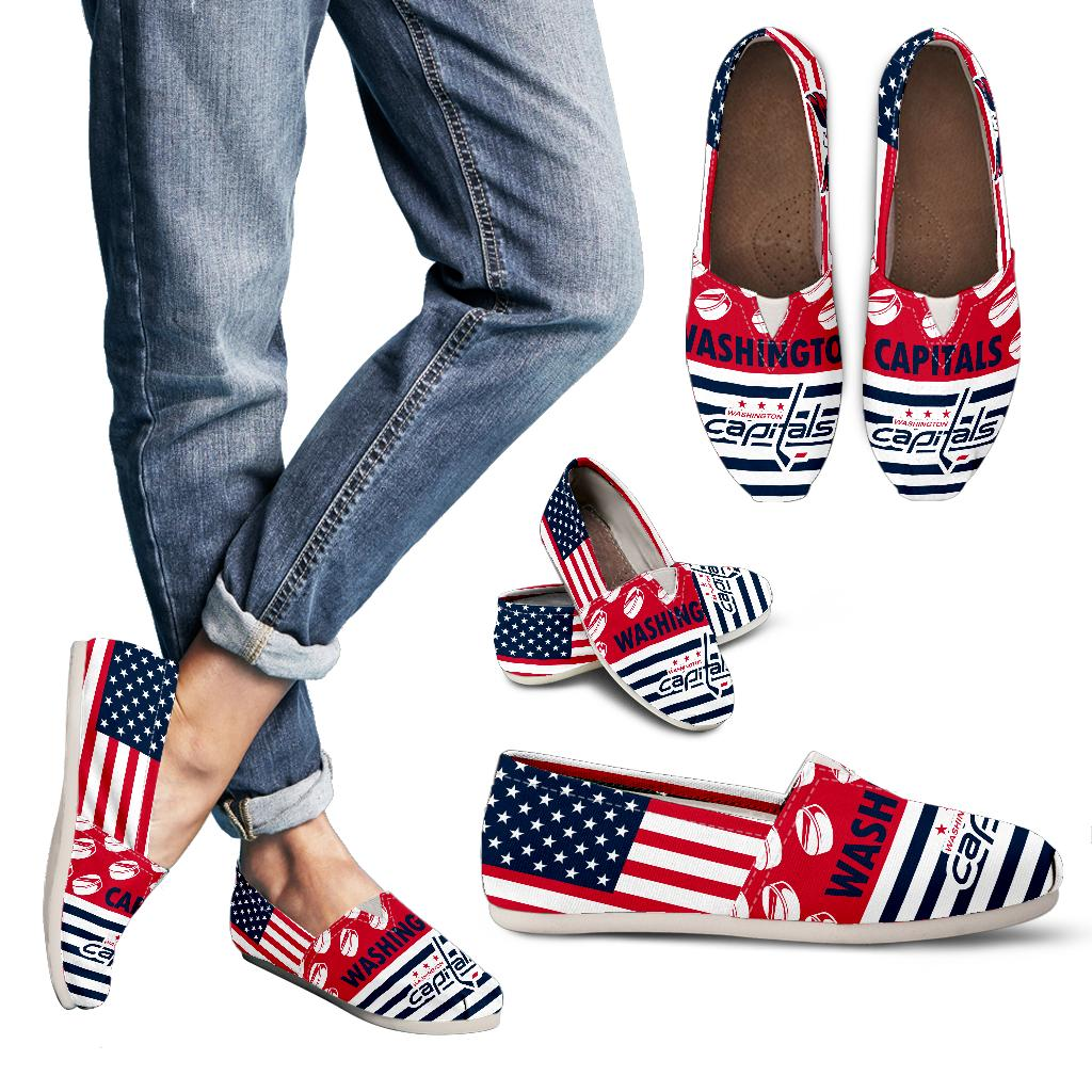 American Flag Washington Capitals Casual Shoes