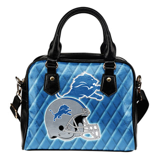 Couple Helmet Enchanting Logo Detroit Lions Shoulder Handbags