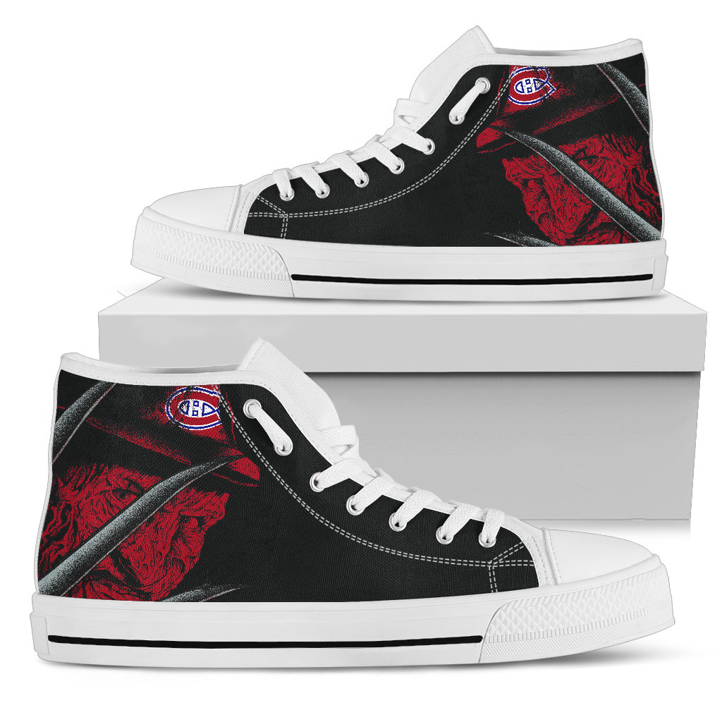 Montreal Canadiens Nightmare Freddy Colorful High Top Shoes