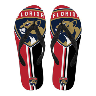 Florida Panthers Fan Gift Two Main Colors Flip Flops