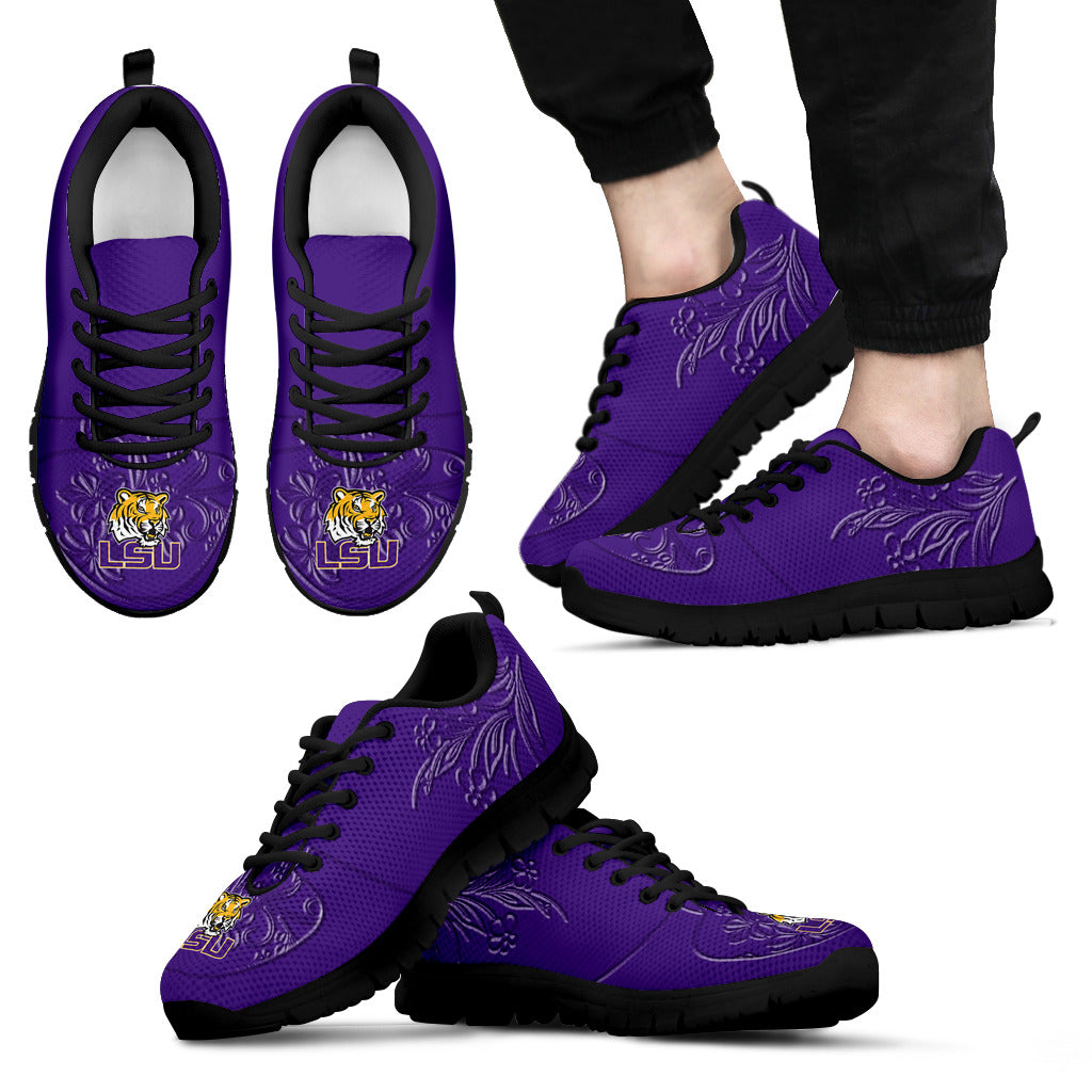 Lovely Floral Print LSU Tigers Sneakers