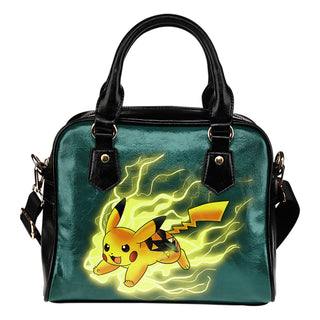 Pikachu Angry Moment San Jose Sharks Shoulder Handbags