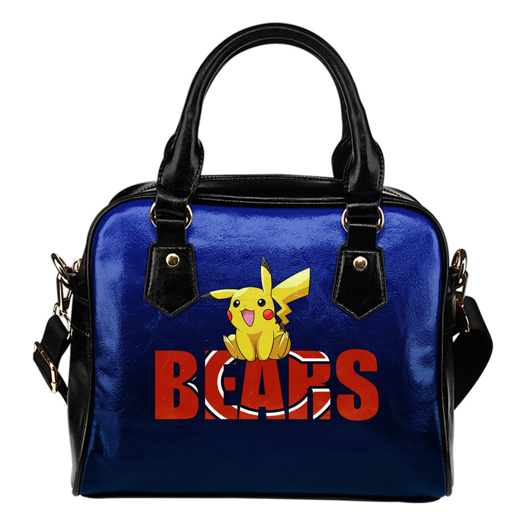 Pokemon Sit On Text Chicago Bears Shoulder Handbags