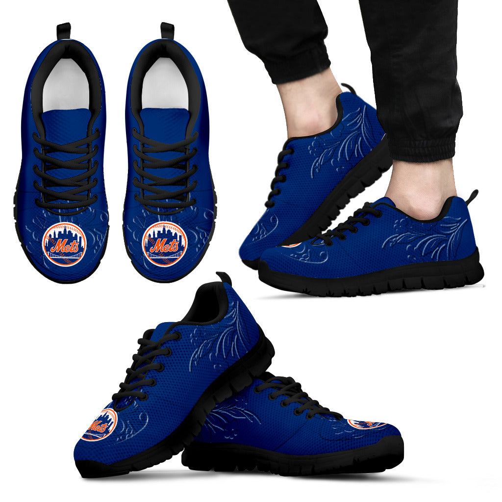 Lovely Floral Print New York Mets Sneakers