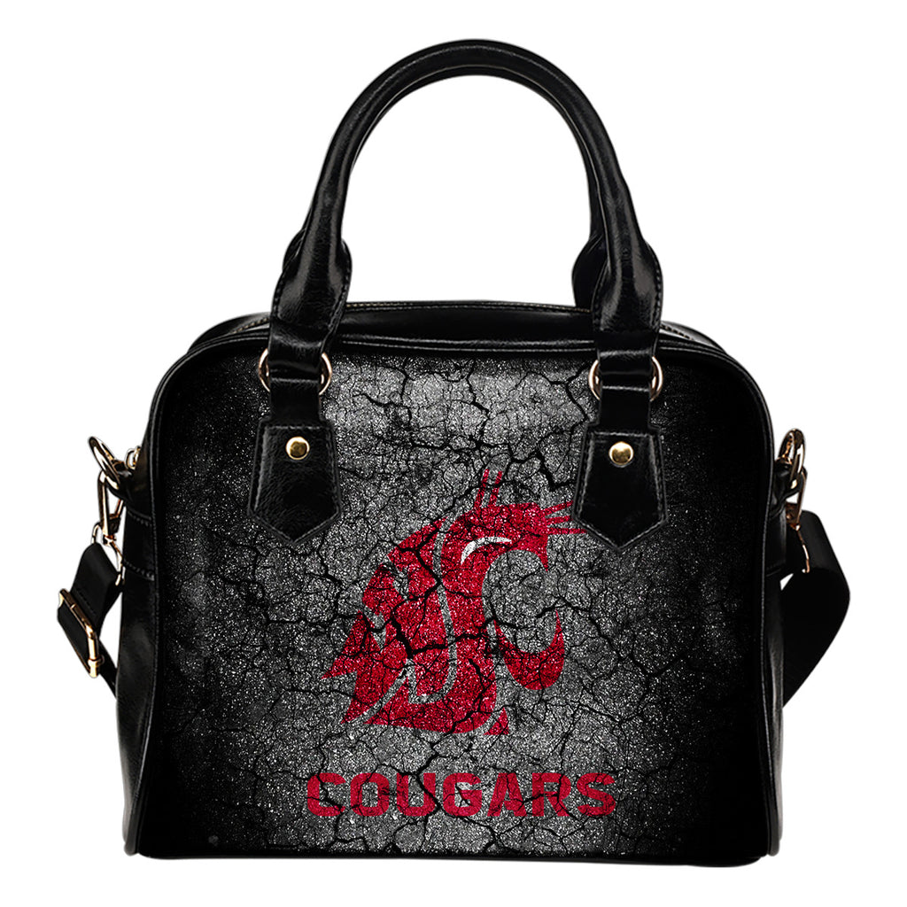 Wall Break Washington State Cougars Shoulder Handbags Women Purse