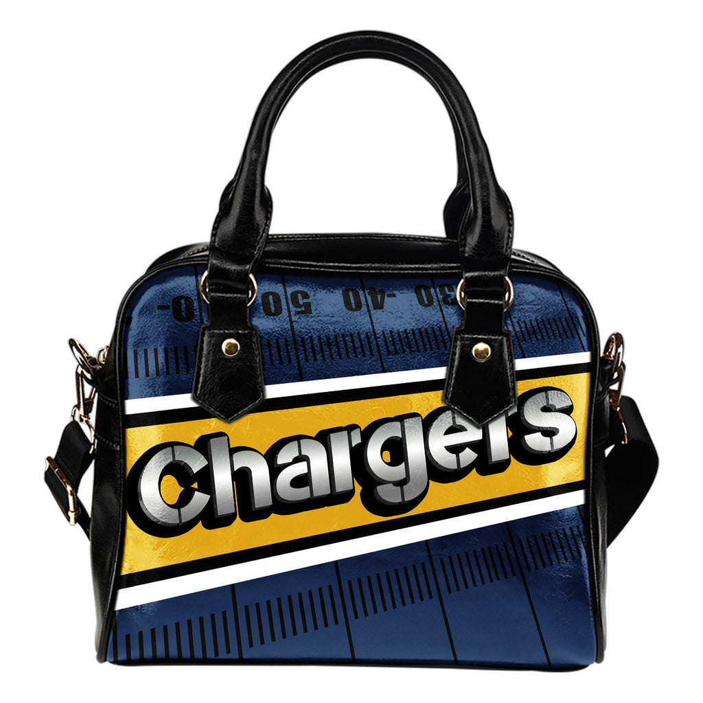 Los Angeles Chargers Silver Name Colorful Shoulder Handbags