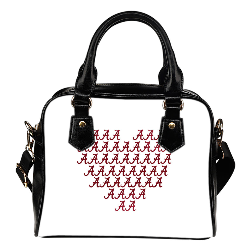Alabama Crimson Tide Heart Shoulder Handbags Women Purse