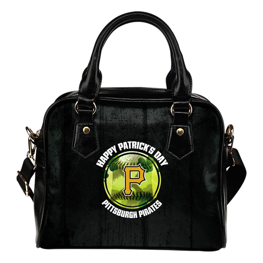 Retro Scene Lovely Shining Patrick's Day Pittsburgh Pirates Shoulder Handbags