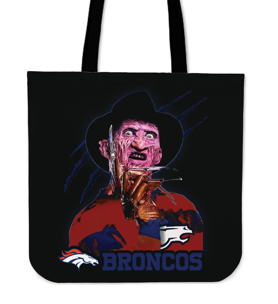Denver Broncos Freddy Tote Bag - Best Funny Store