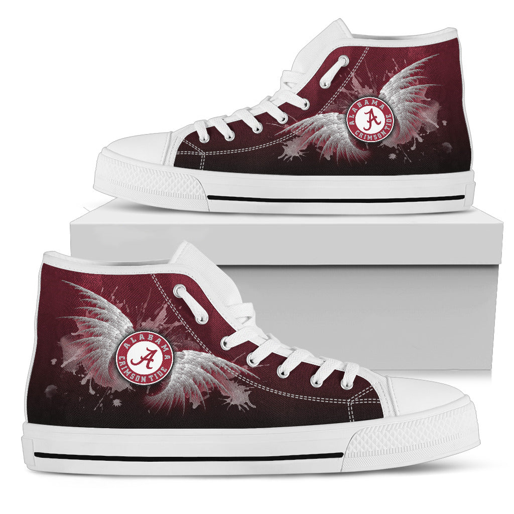 Angel Wings Alabama Crimson Tide High Top Shoes