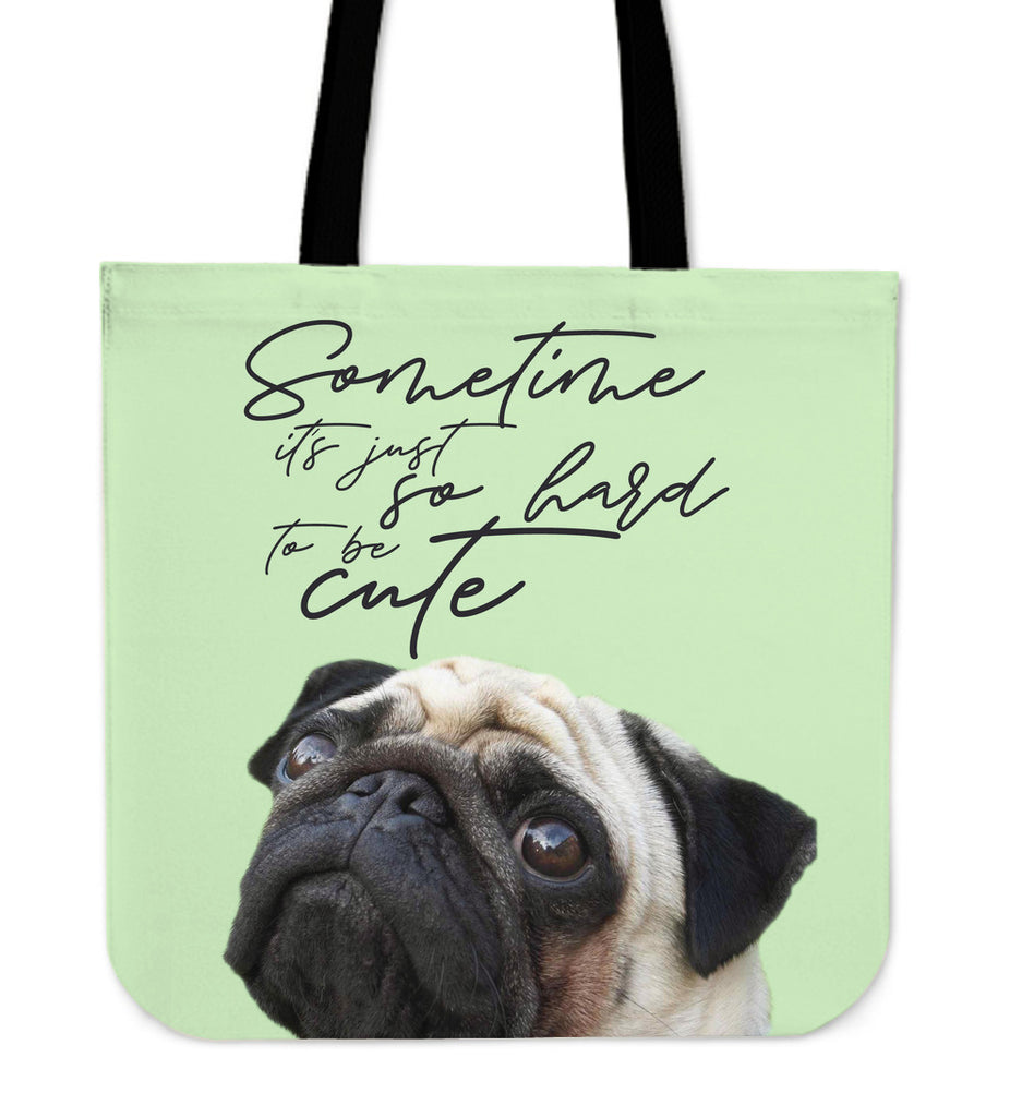 Look At Me Pug Tote Bags