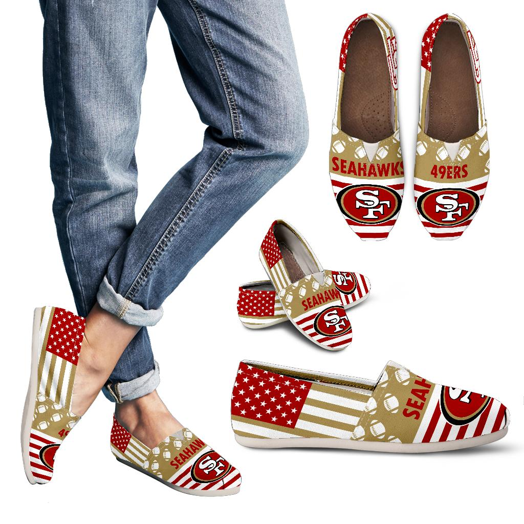 American Flag San Francisco 49ers Casual Shoes