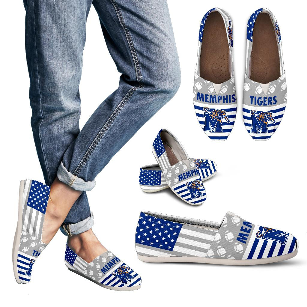 American Flag Memphis Tigers Casual Shoes