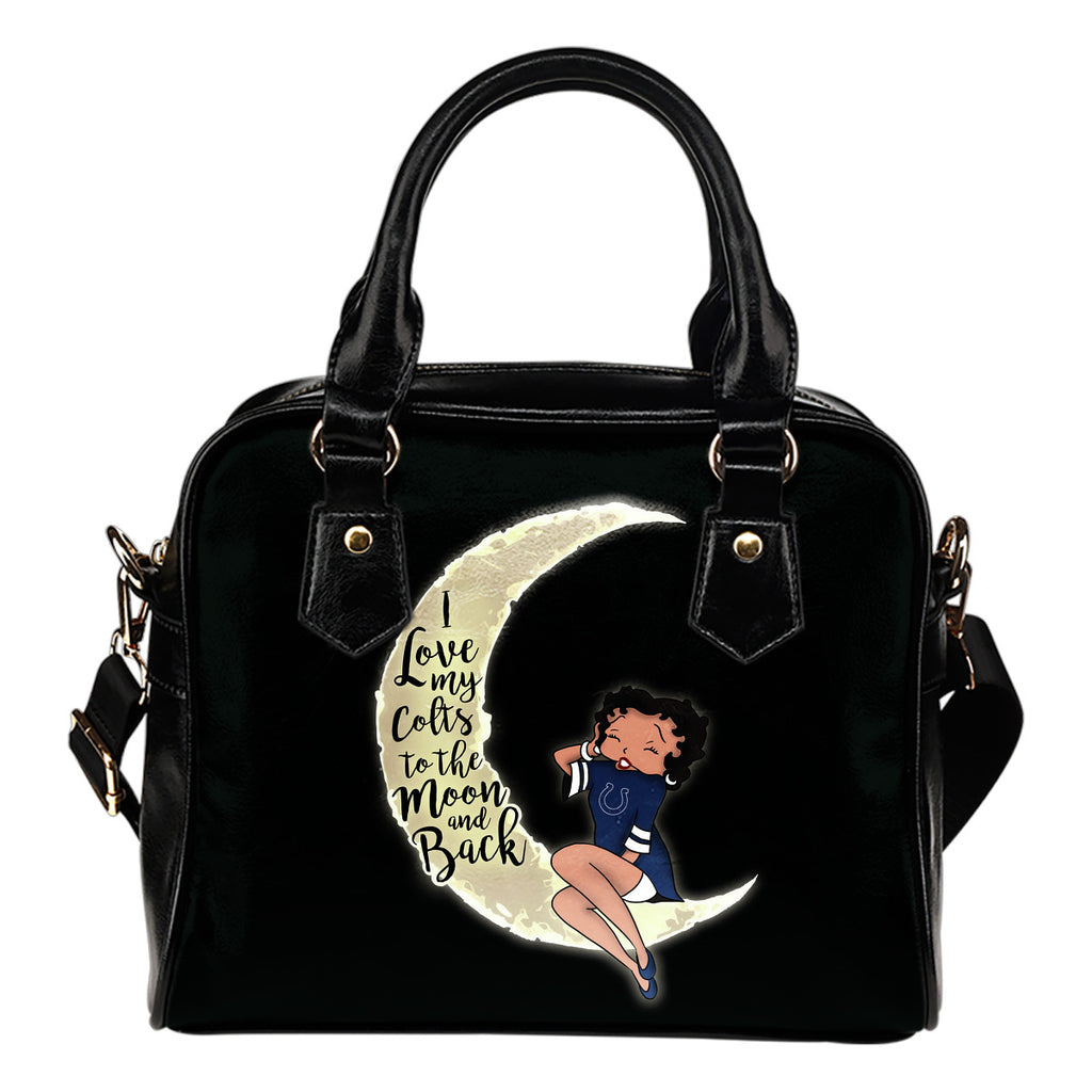 BB I Love My Indianapolis Colts To The Moon And Back Shoulder Handbags Women Purse