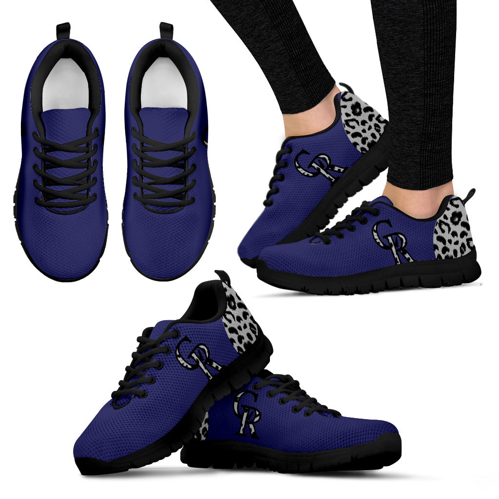 Cheetah Pattern Fabulous Colorado Rockies Sneakers