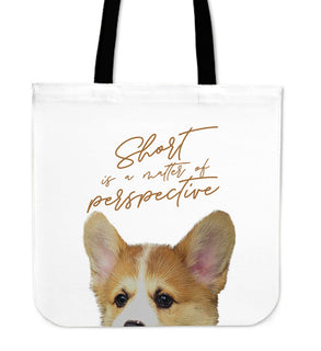 Look At Me Corgi Tote Bags