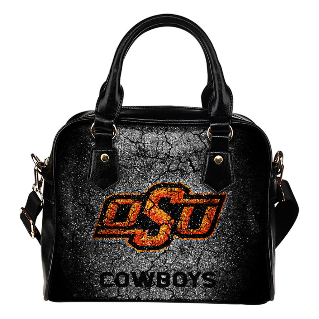 Wall Break Oklahoma State Cowboys Shoulder Handbags Women Purse