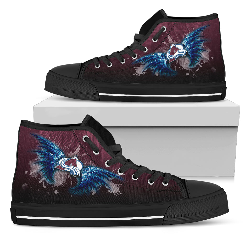 Angel Wings Colorado Avalanche High Top Shoes