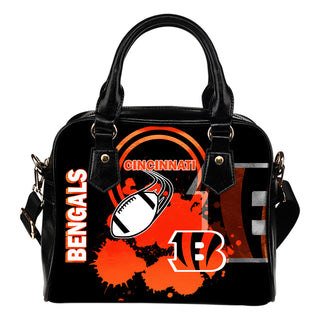 The Victory Cincinnati Bengals Shoulder Handbags