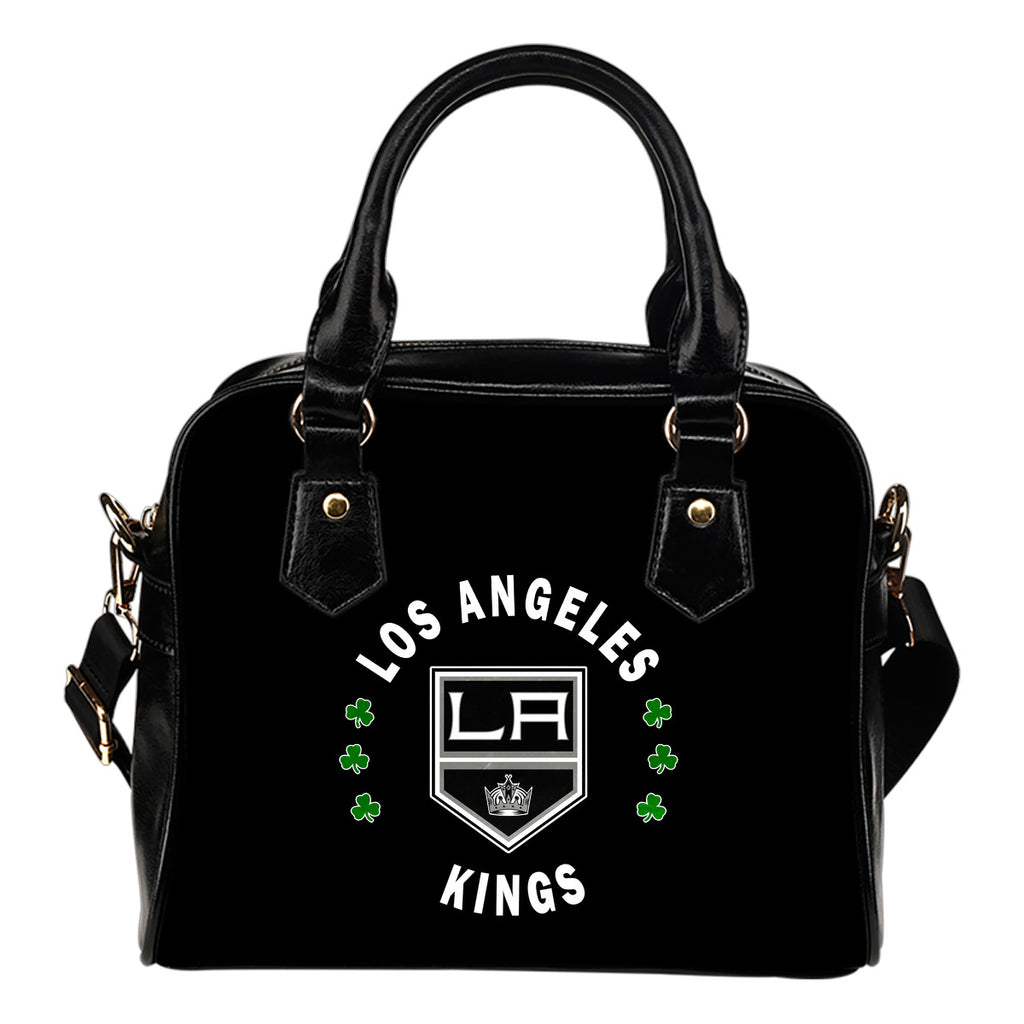Central Beautiful Logo Circle Lucky Leaf Los Angeles Kings Shoulder Handbags