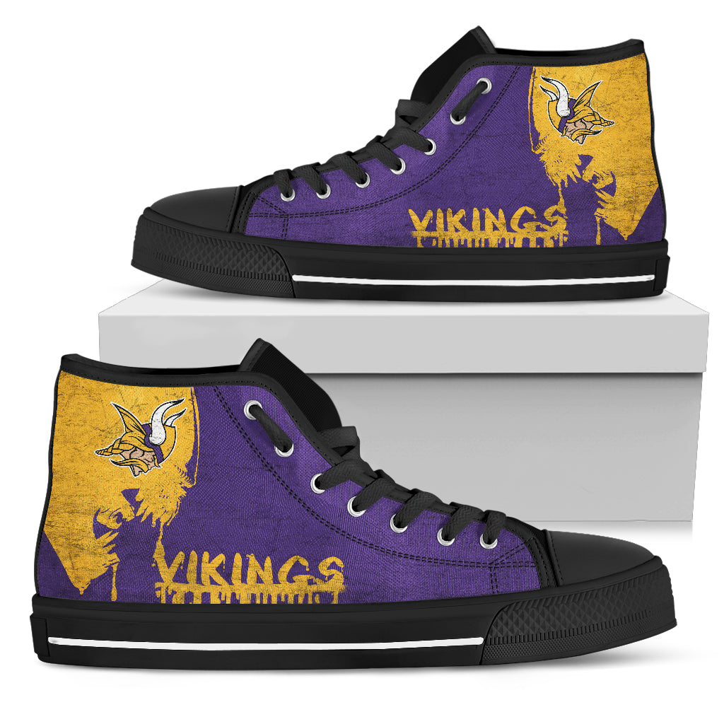 Alien Movie Minnesota Vikings High Top Shoes
